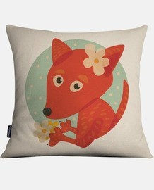 Cute Fox And Flowers