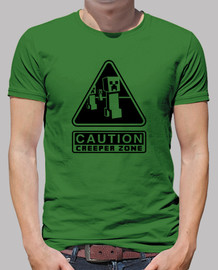 Caution Creeper Zone (Negativo)